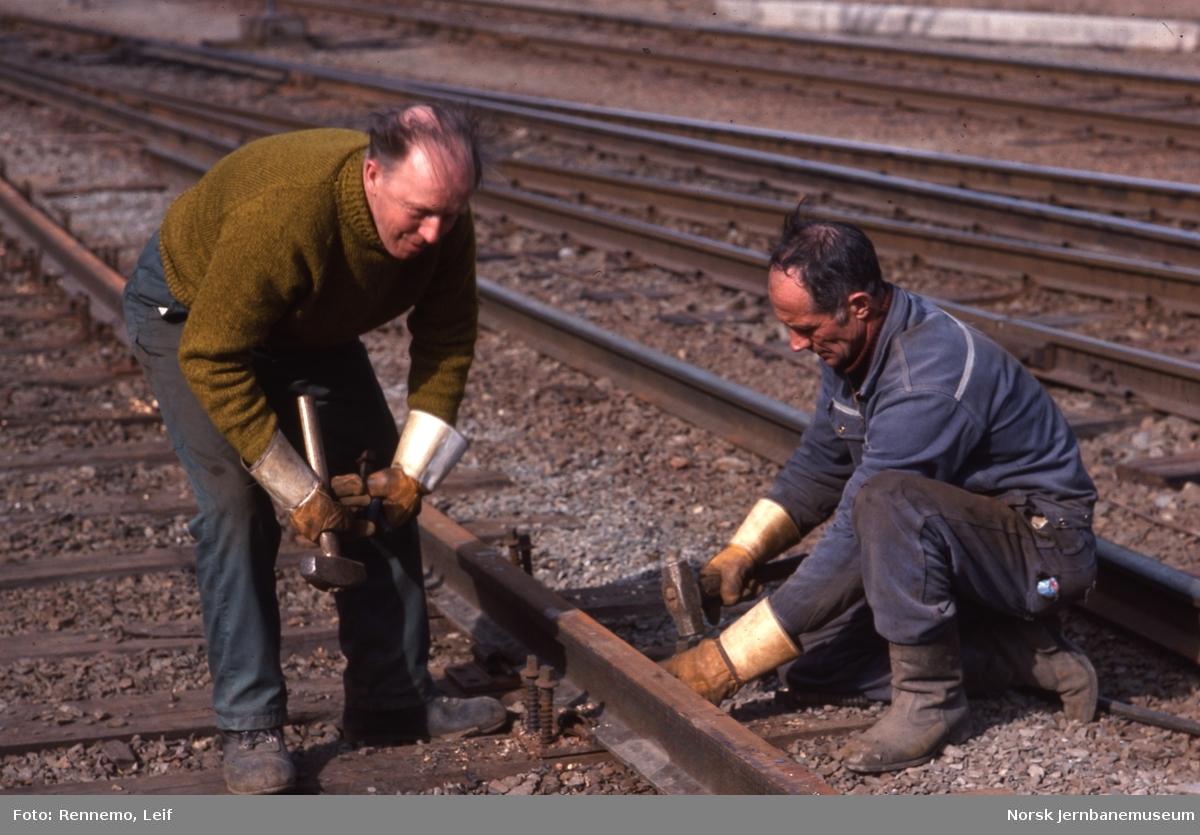 Banearbeid på Otta stasjon