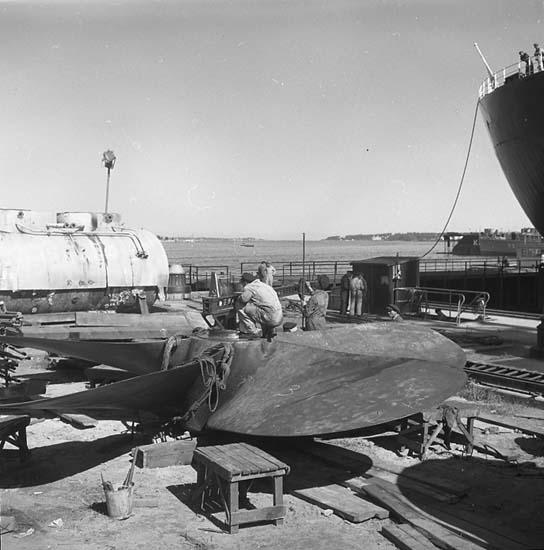 Uppmatning av propeller till fartyg nr. 204 T/T Asa V. Call.