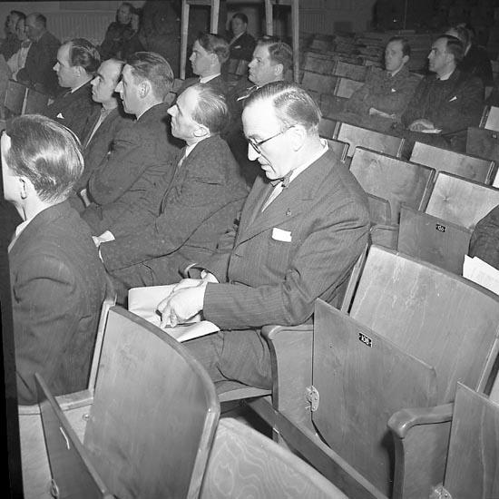 """Enligt notering: """"Boxningsdiskussion 7/3 1947""""."""