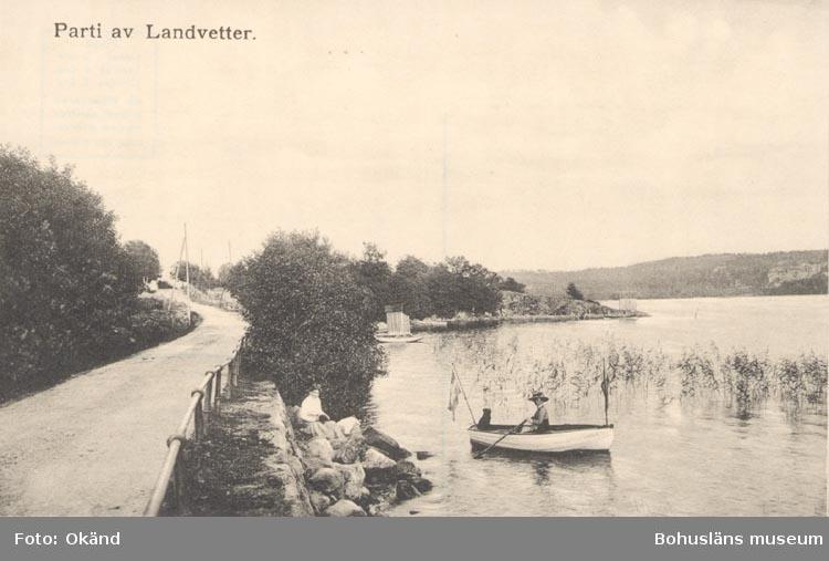 """Tryckt text på kortet: """"Parti av Landvetter""""."""