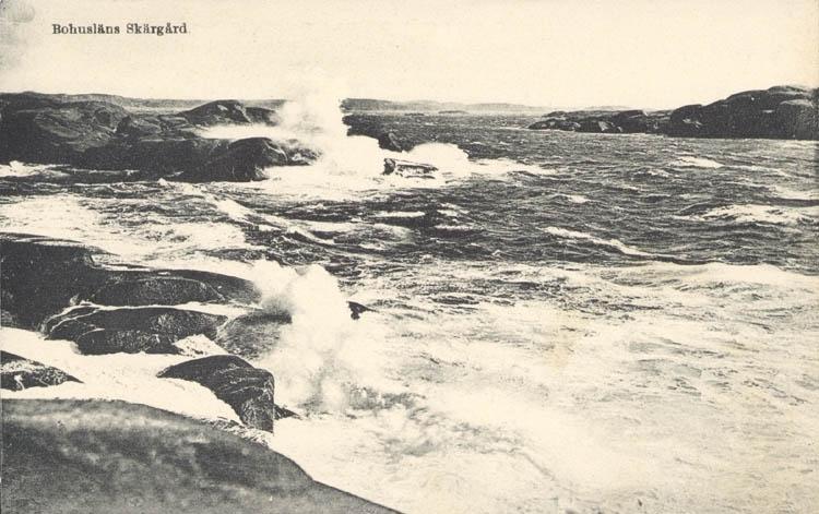 """Tryckt text på kortet: """"Bohusläns Skärgård."""" Noterat på kortet: """"Stånghuvud vid Lysekil."""""""