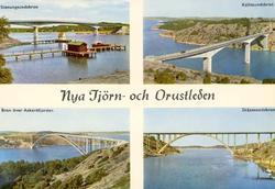 """Tryckt text på kortet: """"Nya Tjörn- och Orustleden."""" """"Stenun"""