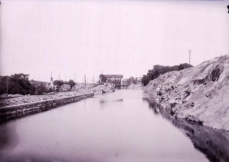Kanalen i Trollhättan, juni 1910