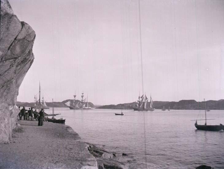 """Enligt text som medföljde bilden: """"Marstrand, Hamnen."""""""