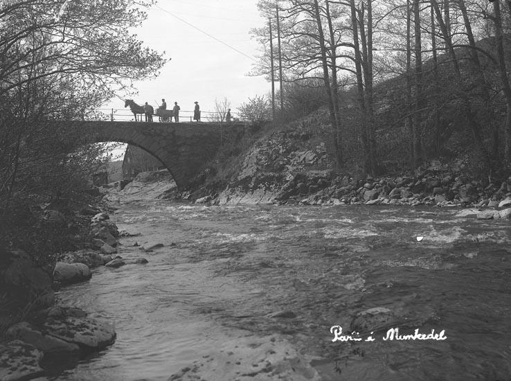 """Enligt fotografens noteringar: """"6 sek. Fröken Ida Larsson ....? på bron."""""""