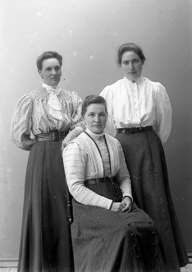 """Enligt fotografens journal 1909-1915 no 2: """"Fru Karlsson, Ödsmåls station""""."""
