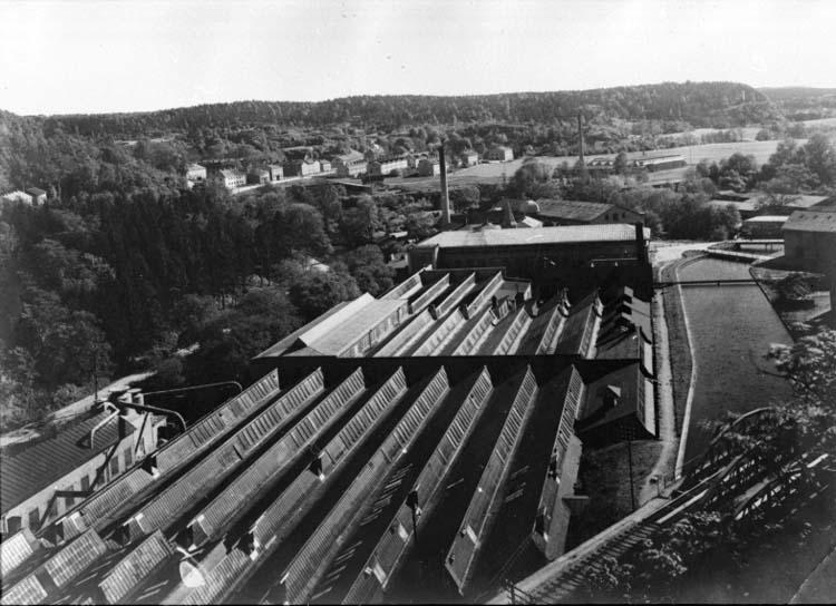 """Text på kortet: """"Fabriken omkr. 1935."""""""