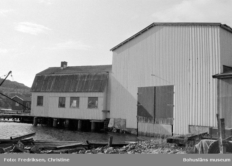 """Motivbeskrivning: """"Tommas Löfberg, på bilden syns till vänster stora båthallen (se Bb 27:18)."""" Datum: 19801008"""