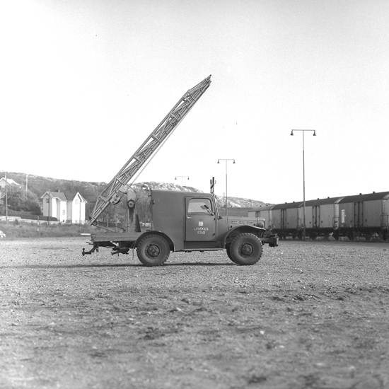 """Text till bilden: """"Elverkets stegbil. 1960.10"""""""