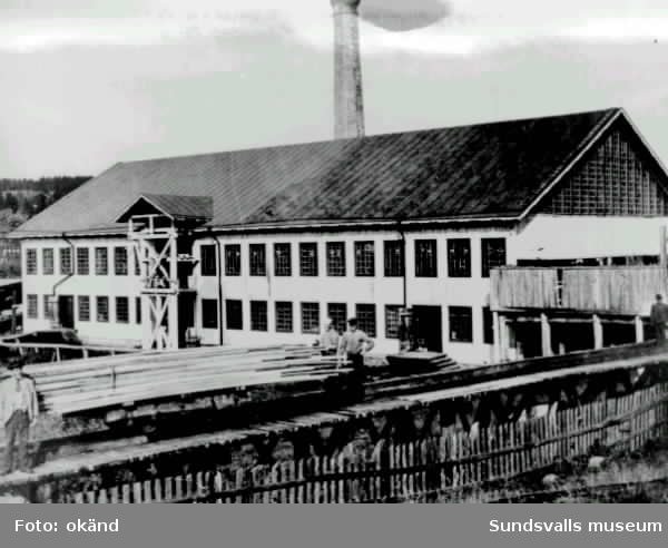 Såghuset vid Klampenborgs sågverk.