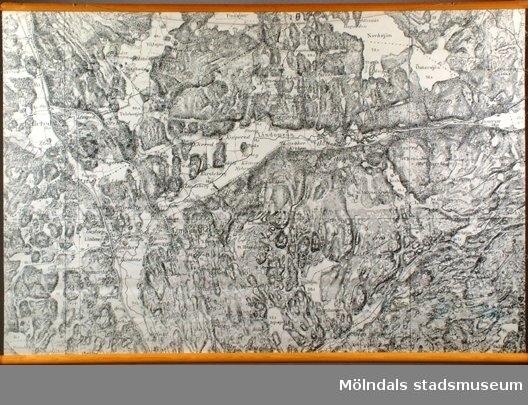 Karta över Lindome, Göteborg.