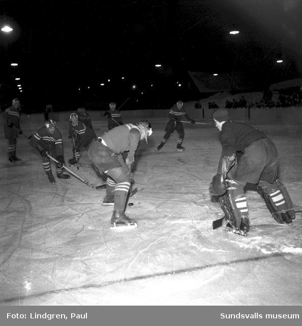 SIK-Strömsund. Ishockeymatch.
