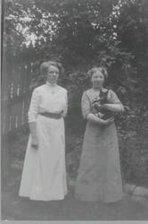 Troligen fru Hörnell, född Nordin från Vivstavarv