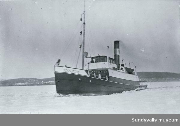 Bogserbåten Rönnöfors. Ägdes bl a av Wifsta Varf AB 1920-1950.