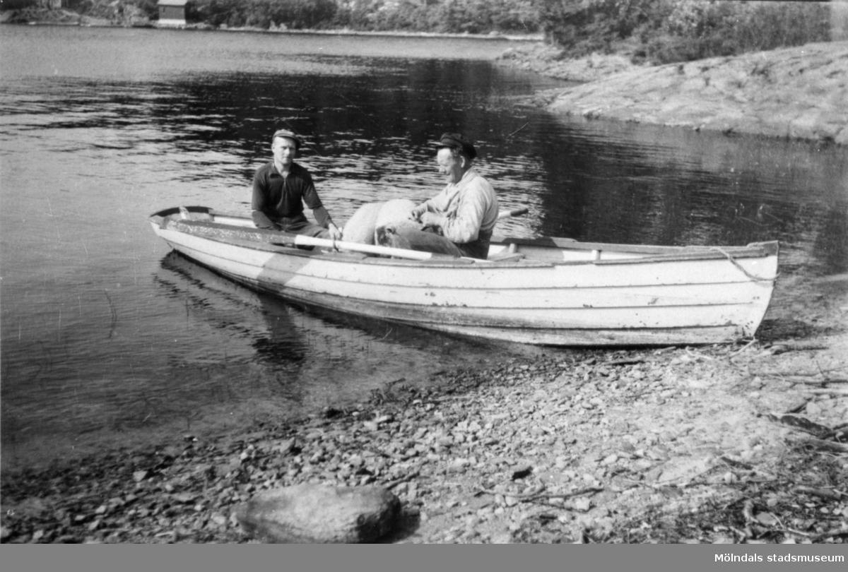 Arvid och Albert har varit på Nordsjön, 1950.