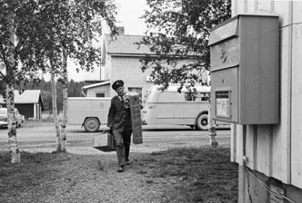 Bildiligens på linjen Borgafjäll - Dorotea, juli 1963.