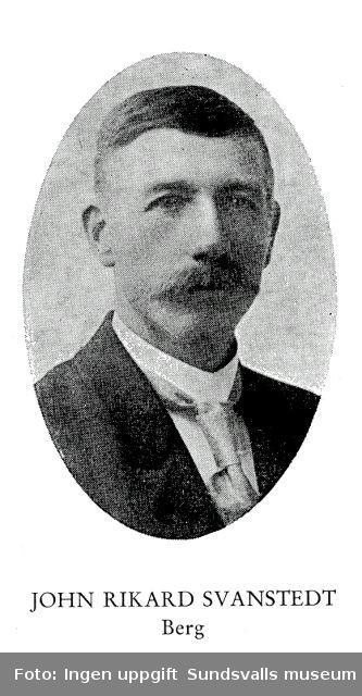 John Rikard Svanstedt, f 18691218 i Svanäng, Tuna sn d 19520708 i Berg, Tuna sn
