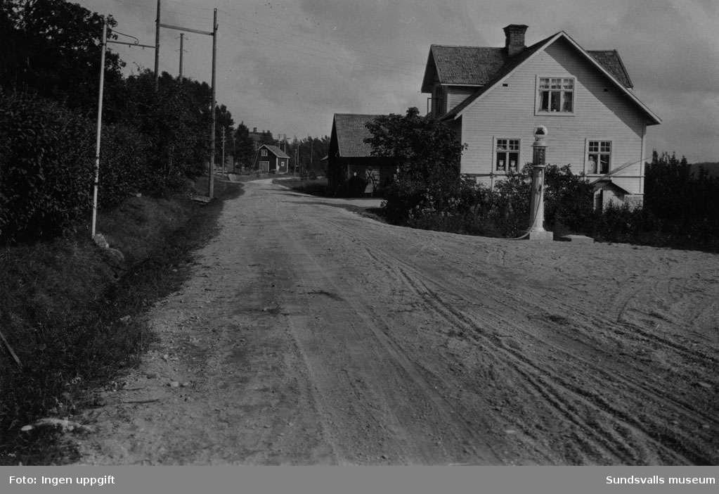 BP-stationen Svedje, Björna, Örnsköldsvik. Köpman: J.A. Sjödin.