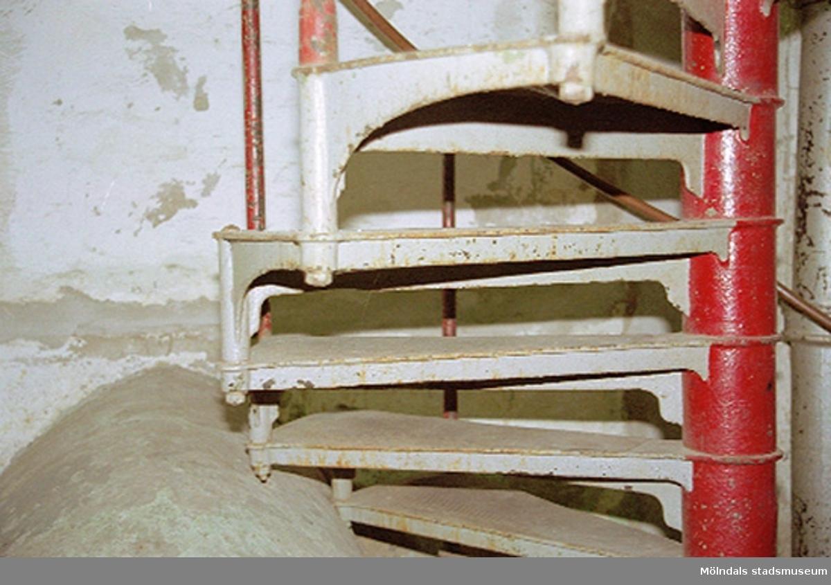 Trappa i vattenreningsanläggningen -39. Papyrusinventeringen 2001-11-06.