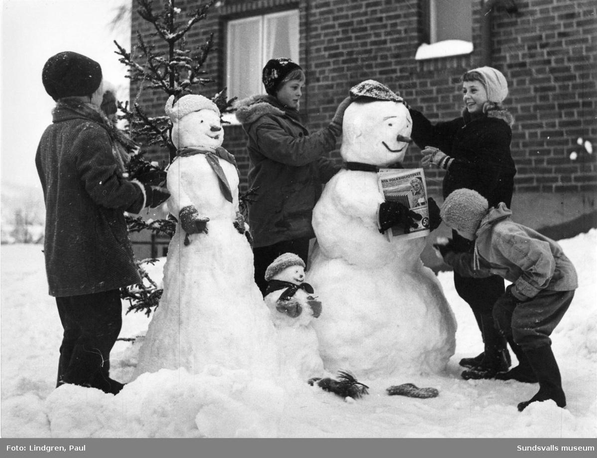 Familjen Snö. Publicerad i SP 13/1 1959.