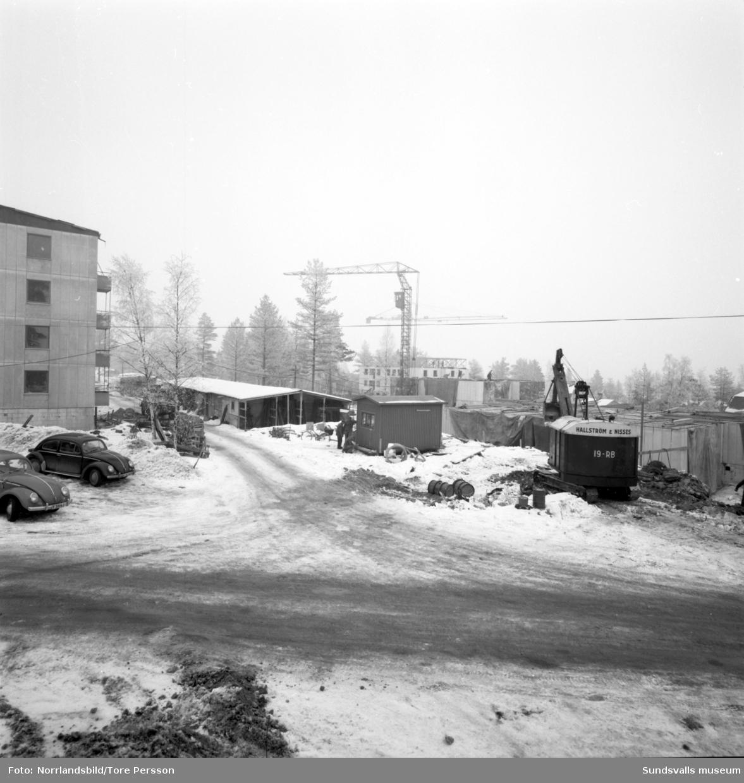 Byggrusch i kvarteret Tallkronan i Haga, Tomtegränd.