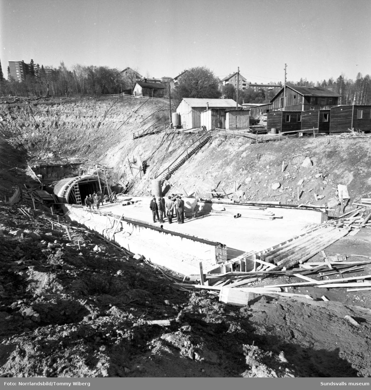 Bygget av reningsverket i Norra berget pågår.