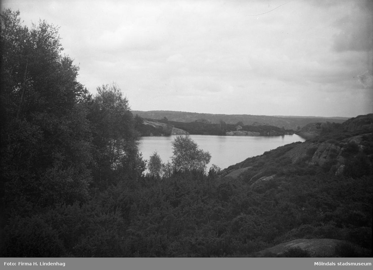 Bergsjön (Färås tjärn) i Kållered år 1917.