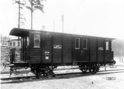Fotografi föreställande Järnvägspostvagn Litt DF20 på järnvä