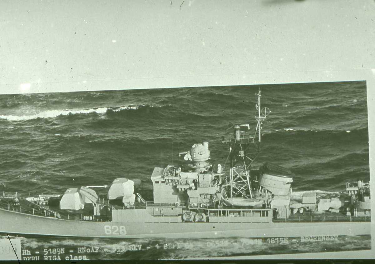 Russisk fartøy av Riga - klassen med nr. 628.