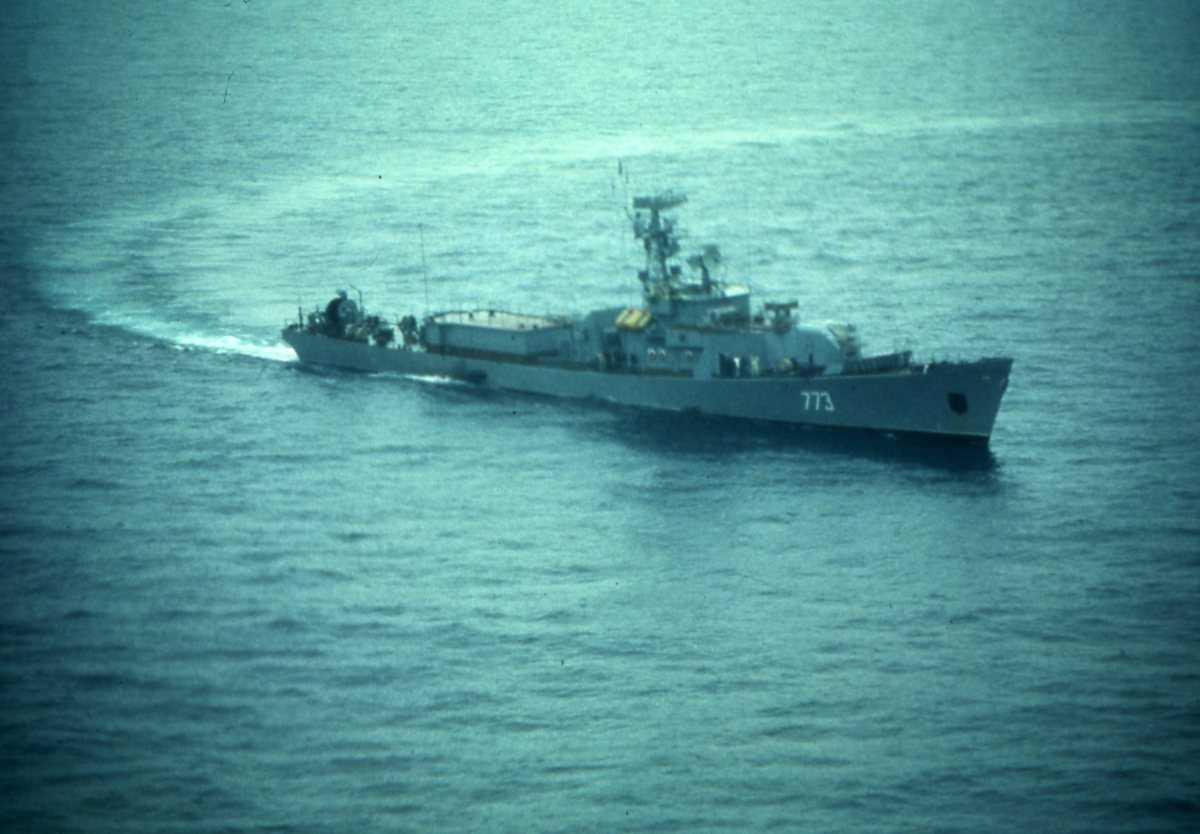 Russisk fartøy av Modifisert Petya I - klassen med nr. 773.