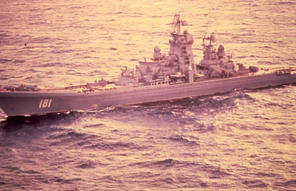 Russisk fartøy av Kirov - klassen med nr. 181.
