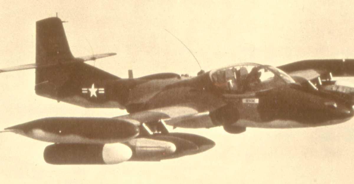 Amerikansk fly av typen A-37 Dragonfly.