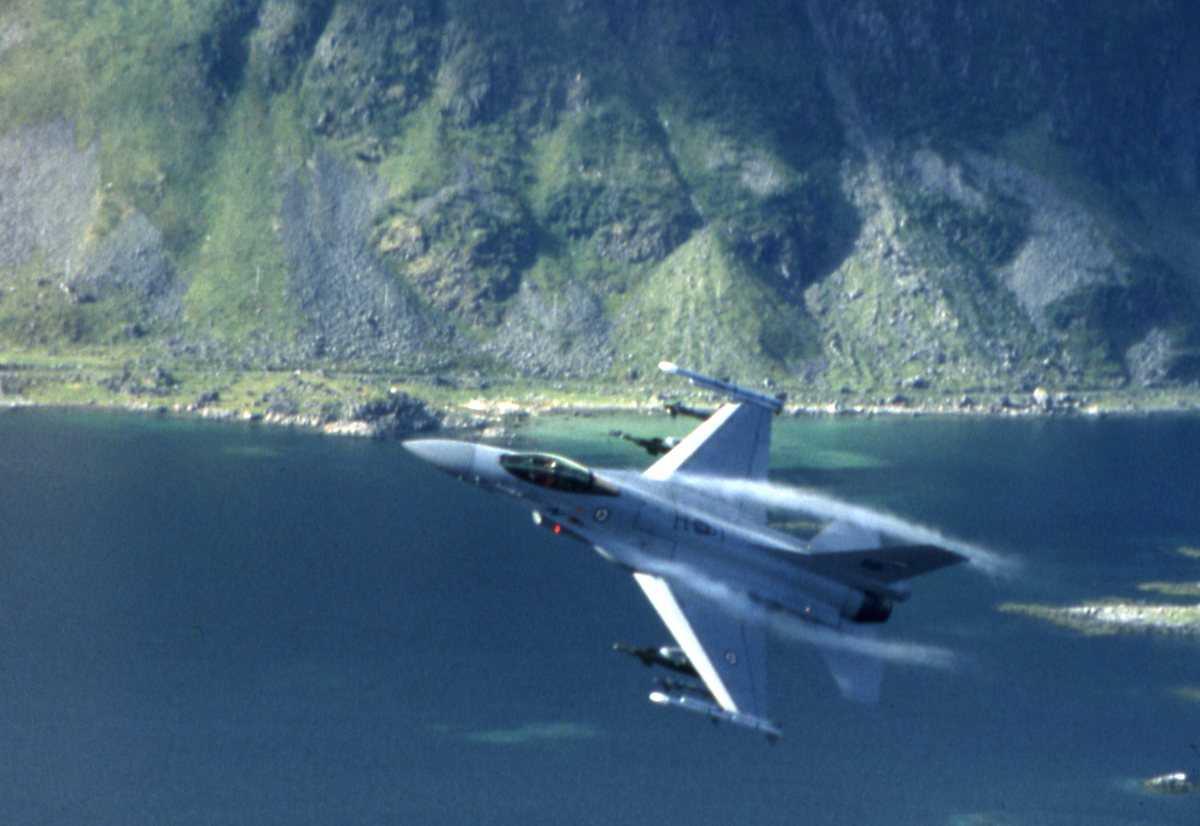 Norske fly av typen F-16 Falcon.