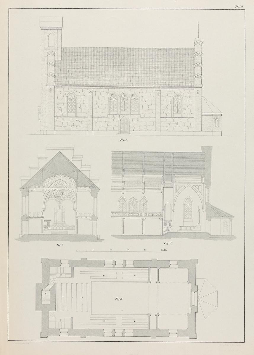 Steinkirke med 483 plasser [Grafikk]