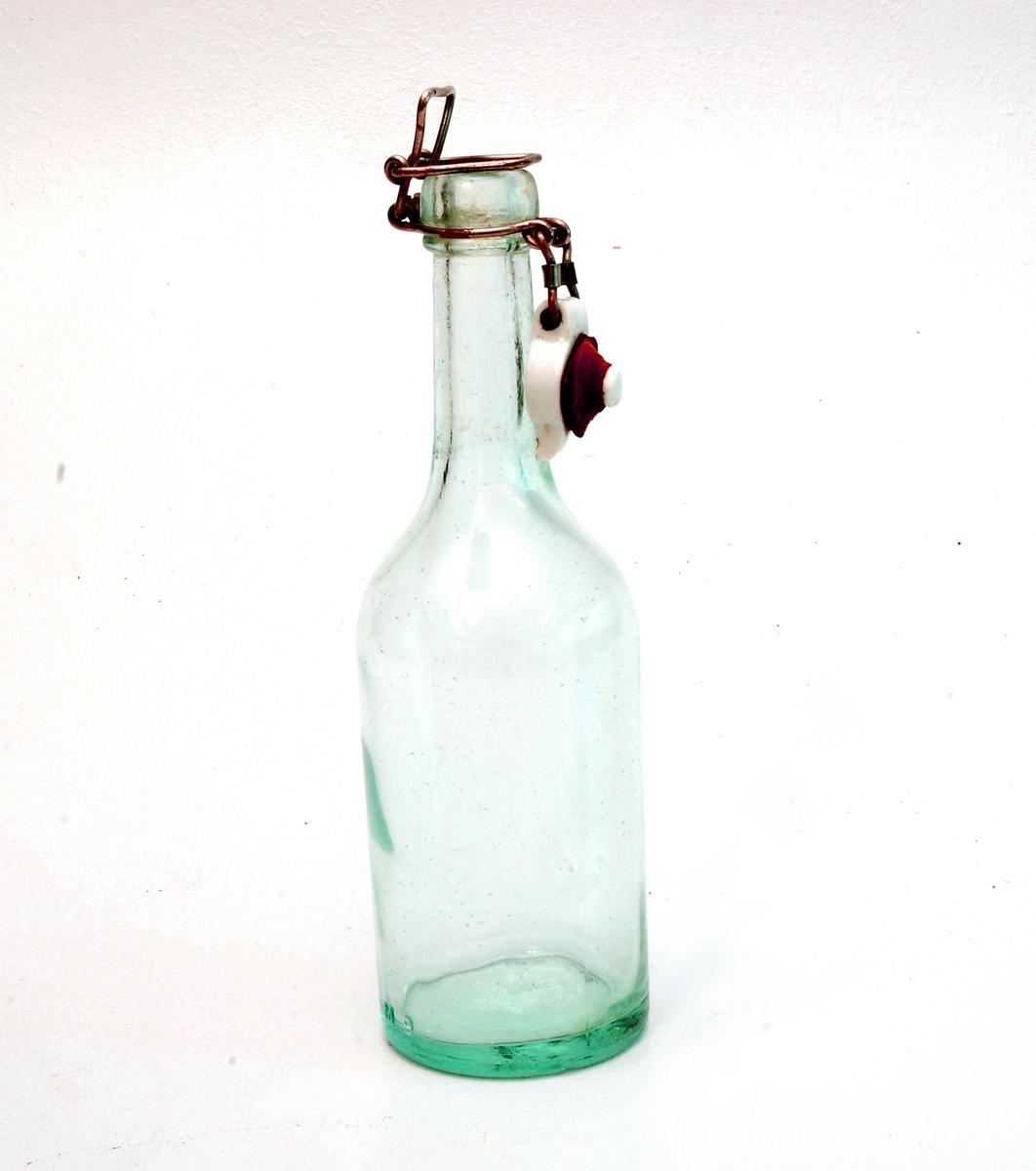 Brusflaske med patent kork