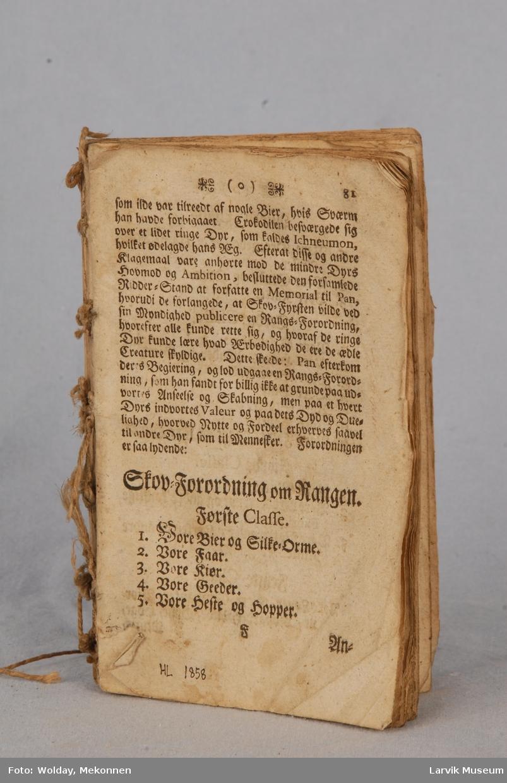 Form: fabelbok s. 81-234,dansk ant.1600-talls