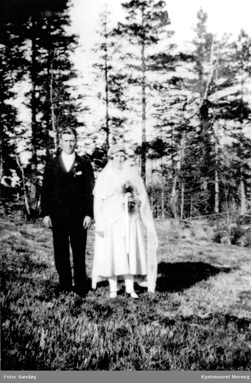 Brudeparet Hartvik Strømli og Tordis Horven Strømli