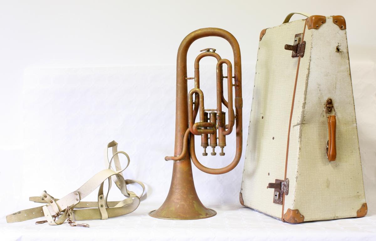 Blåseinstrument med tre ventiler, likner en liten efonium i utformingen. Althornet har en oppbevaringskasse tilpasset dens form.