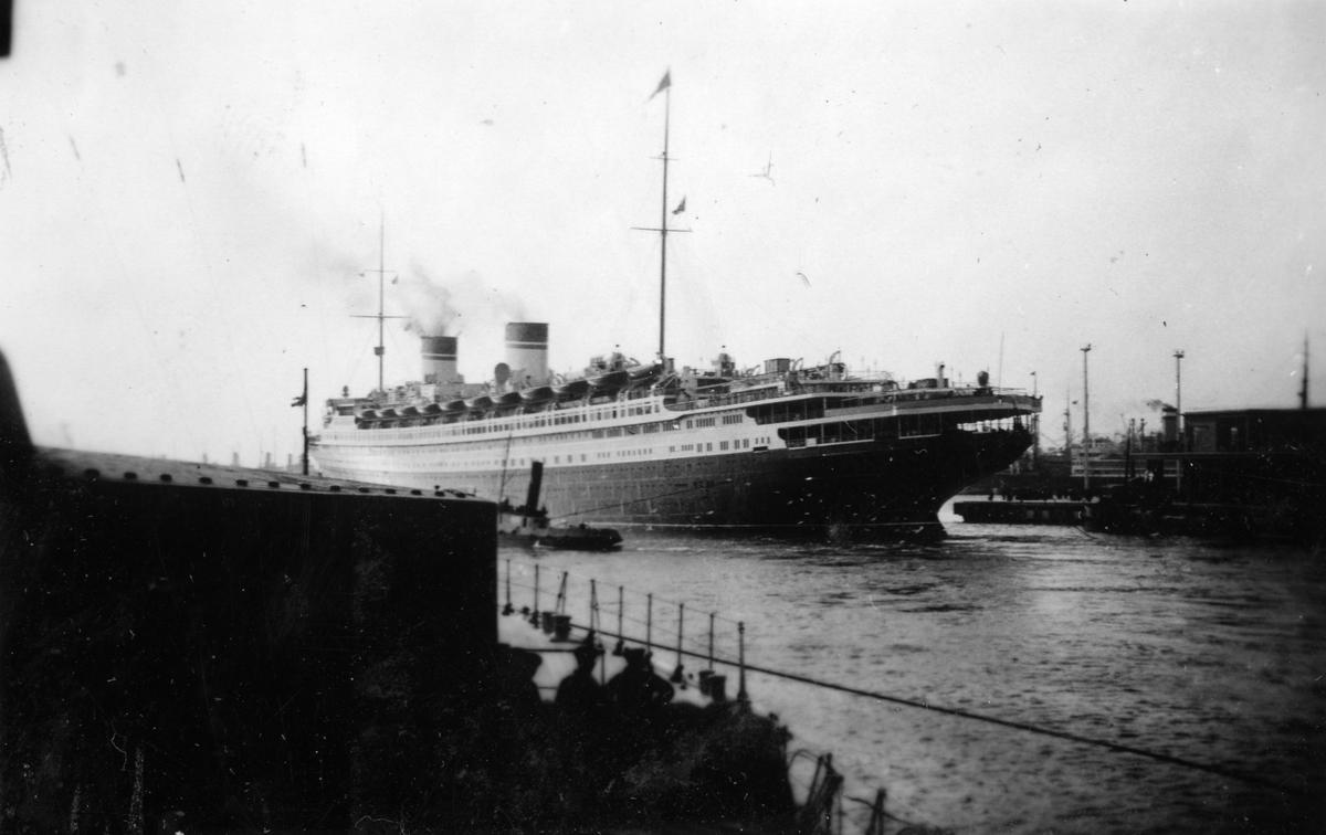 Skeppsgossekåren Minnen från 1927-30 Italienska atlantångaren SS Rex byggd 1932