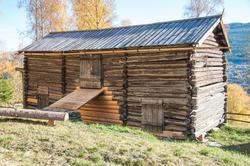 Låve fra Dortehaugen, husmannsplass under Sata,  Ål Bygdamus