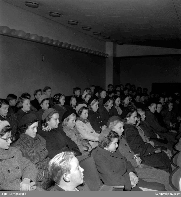 Yrkesvägledning på bio var en populär lektion för Sundsvalls skolbarn.