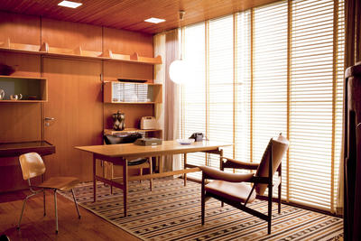 Office interior designed for the museum by Finn Juhl in 1952