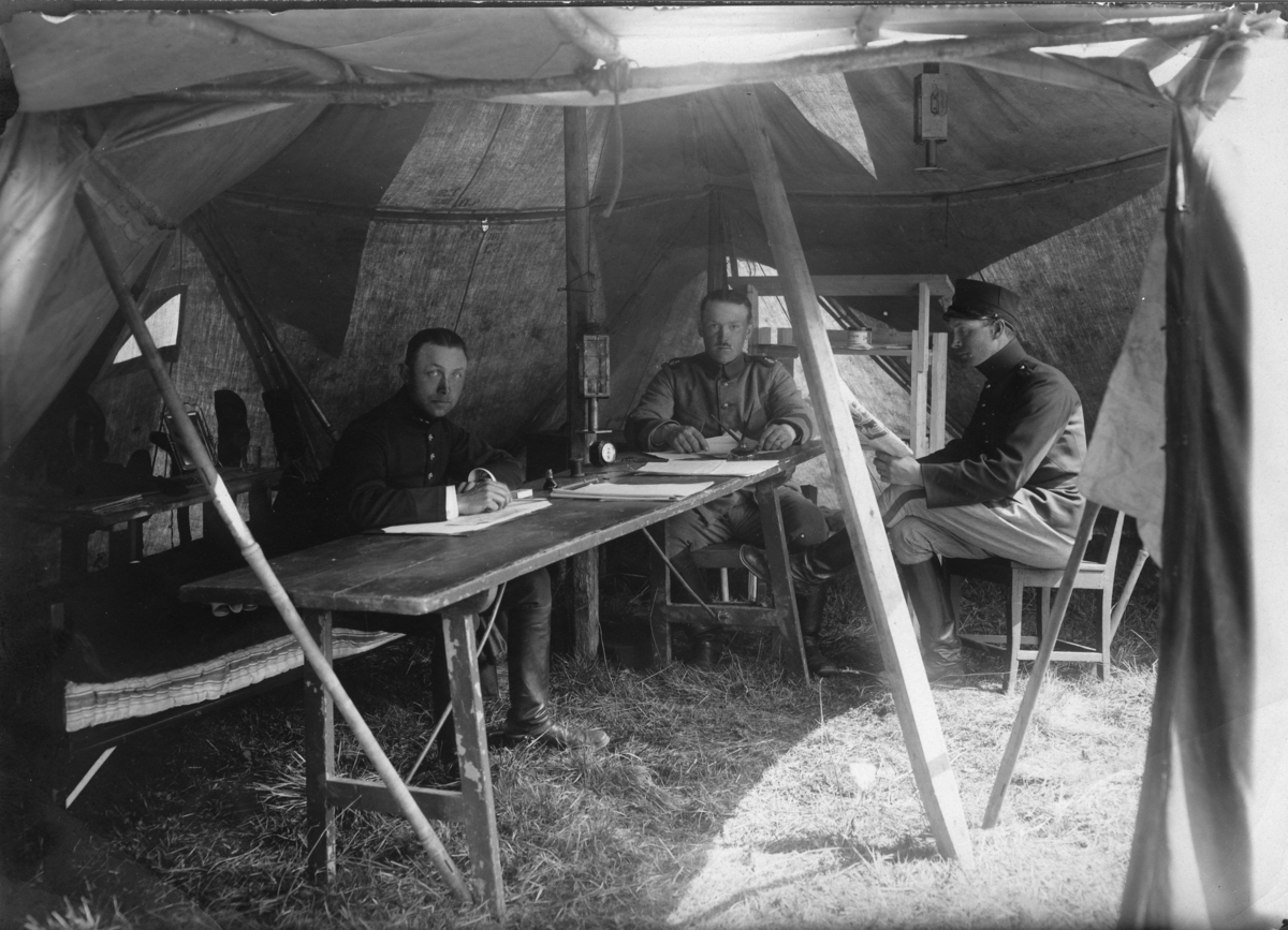 Tältförläggning, under epidemin på A 6.