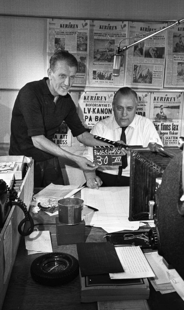 TV-team, 3 september 1965Kurirens redaktion
