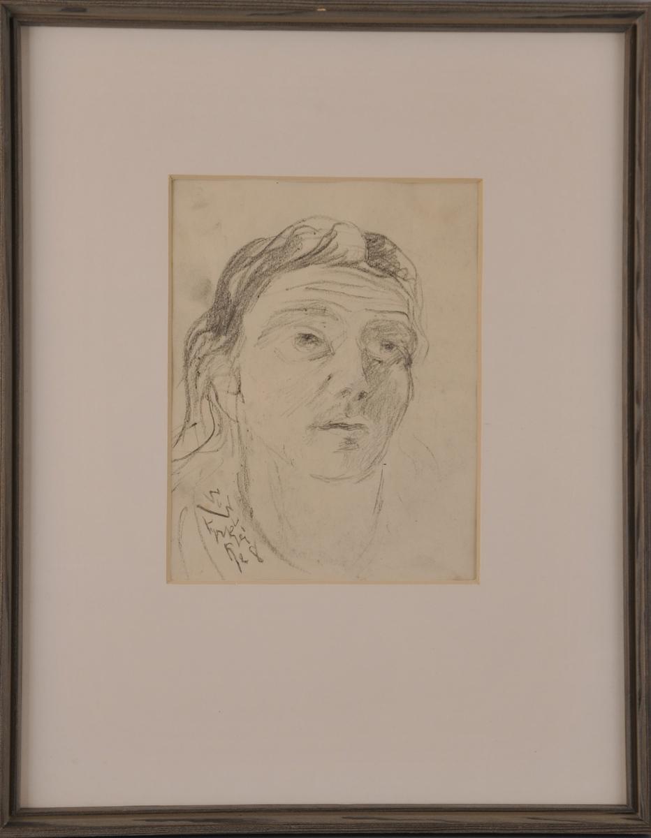 Portrett av ei kvinne.