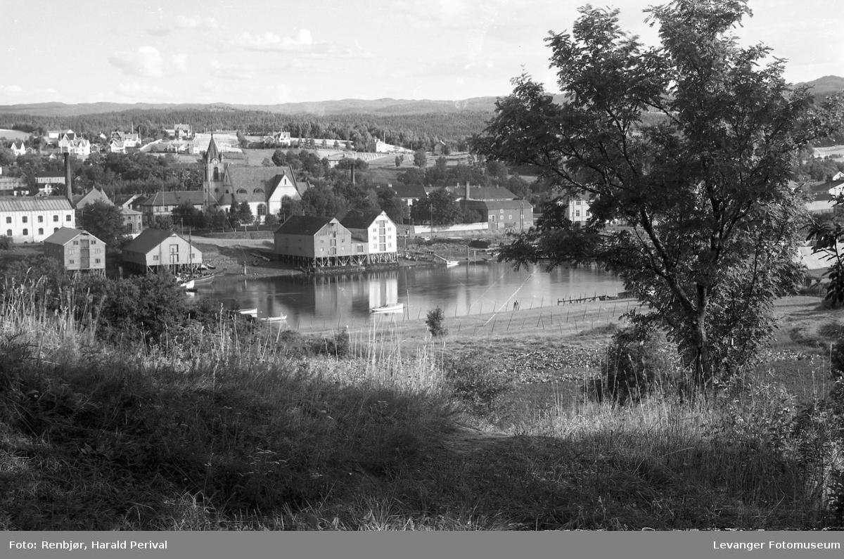 Utsikt til Levanger sentrum fra Nesset.