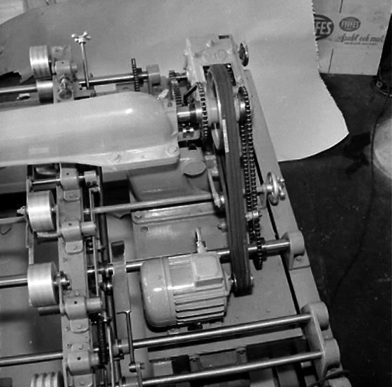 Emba, maskinindustri, interiör, detalj av maskin.