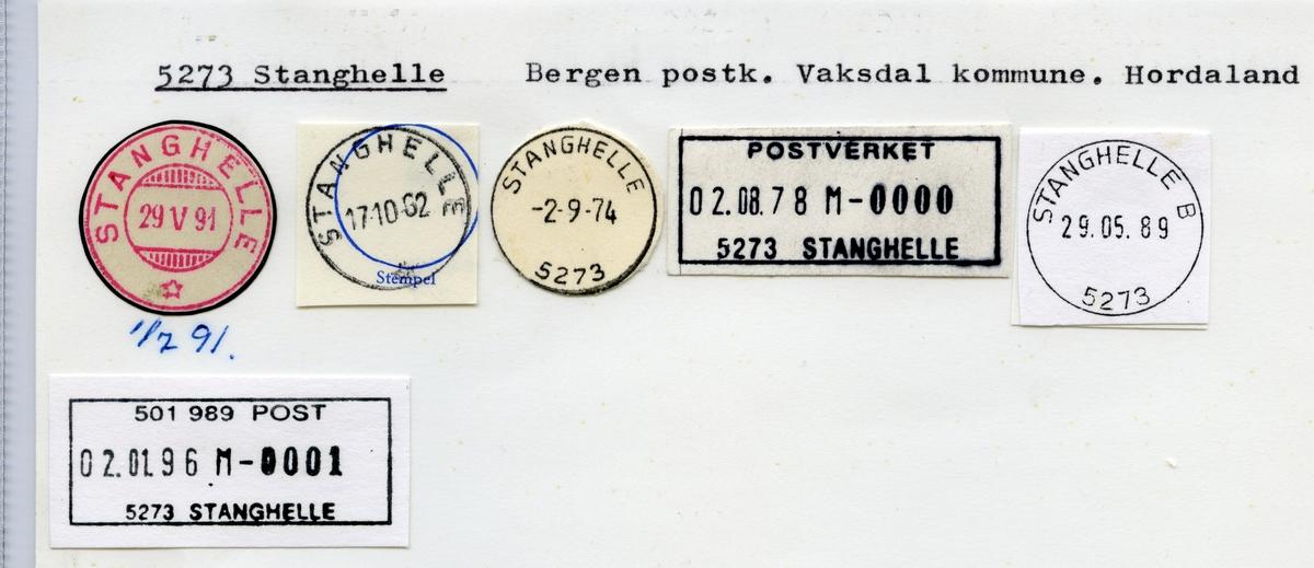 Stempelkatalog  5273 Stanghelle, Vaksdal kommune, Hordaland