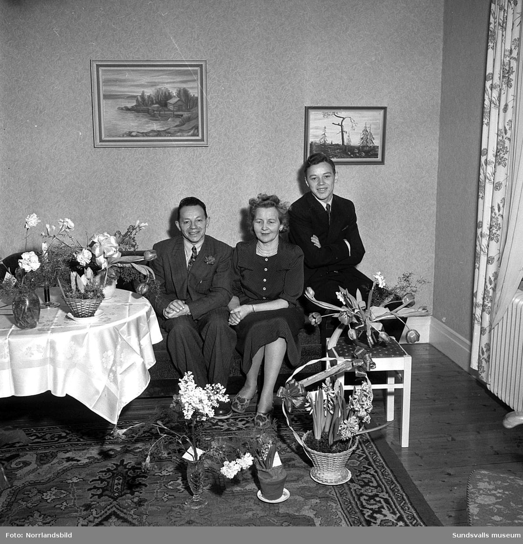 Knut Berglund, 50 år. Familjebild.