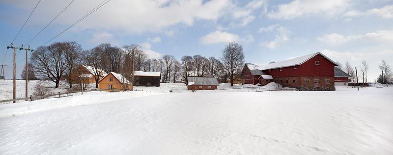 Panoramabilde tatt sørfra om vinteren